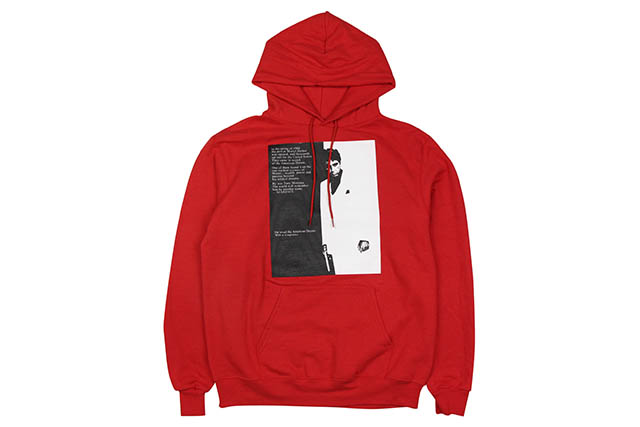 NO BRAND SCARFACE P/O HOODY (RED)フーディー/レッド