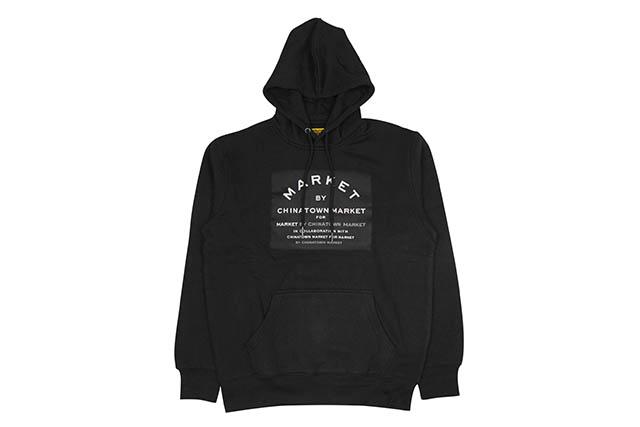 CHINATOWN MARKET MARCET HOODIE (BLACK)チャイナタウンマーケット/プルオーバーフーディー/ブラック