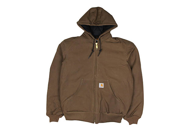 Carhartt DUCK ACTIVE JKT/QUILTED FLANNEL LINED(J140:205/COFFEE)カーハート/フードダックジャケット/コーヒー