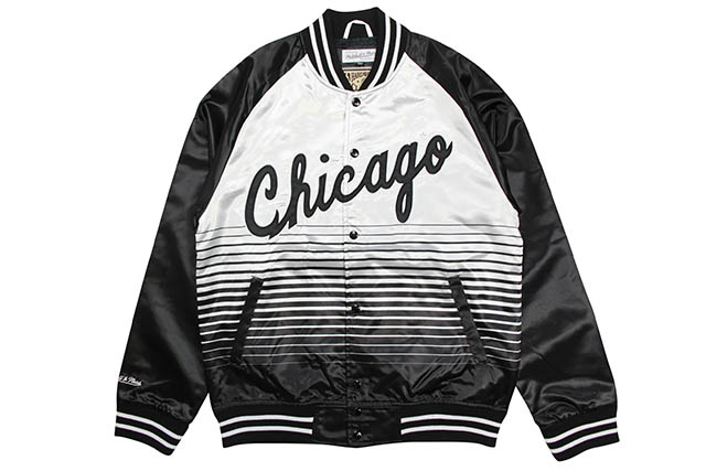 MITCHELL & NESS CHICAGO BULLS CONCORD COLLECTION SATIN JACKET (SILVER)ミッチェルアンドネス/シカゴブルズ/コンコルド/サテントラックジャケット/シルバー