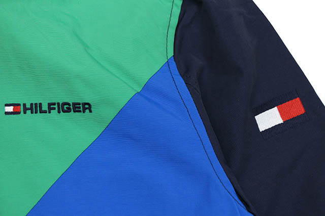 TOMMY HILFIGER YACHT JKT(C8878D1896)(416:GREEN X BLUE X RED) トミーヒルフィガー yacht jacket green X blue X red