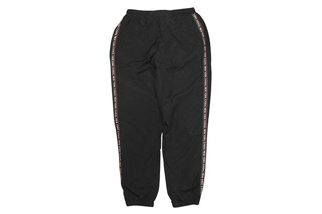 CANAL NEW YORK DECO TRACK PANTS (BLACK/MULTI)キャナルニューヨーク/トラックパンツ/ブラック×マルチ