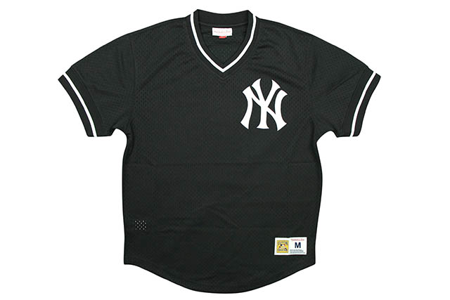 MITCHELL&NESS NEW YORK YANKEES MESH V-NECK JERSEYミッチェル&ネス/ベースボールジャージ/ニューヨークヤンキース