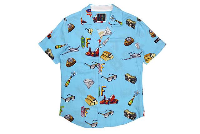 BORN FLY CASH MONEY S/S SHIRTSボーンフライ/ショートスリーブシャツ