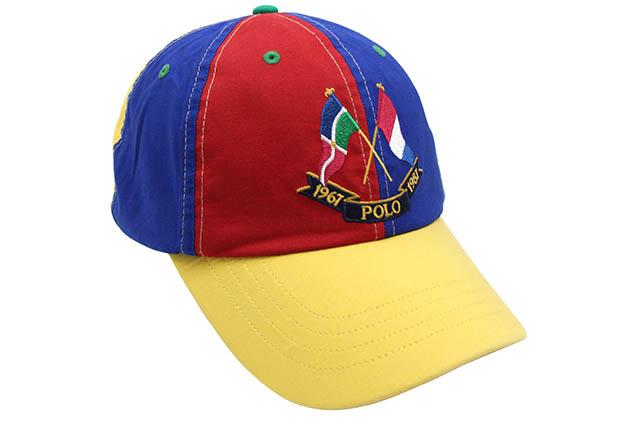 POLO RALPH LAUREN COLOR-BLOCKED FLAG COTTON TWILL CAP (710741816001:MULTI)ポロ ラルフローレン/ツイルキャップ/マルチ