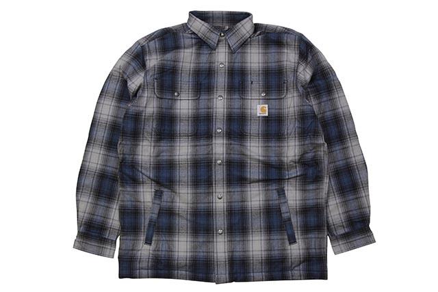 Carhartt HUBBARD SHERPA-LINED PLAID FLANNEL SHIRT JACKET (103821 973:TWILIGHT)カーハート/フランネルシャツジャケット/トワイライト