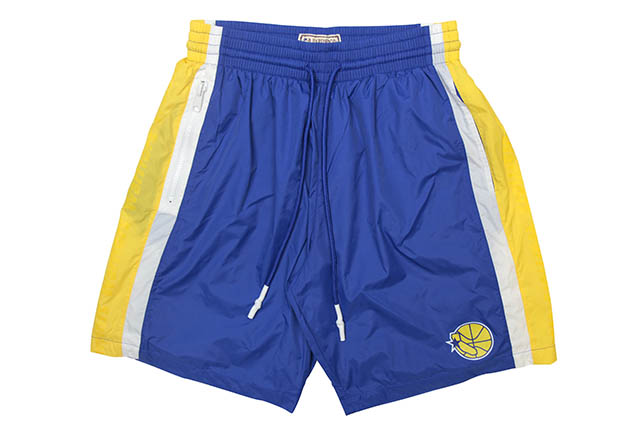 MITCHELL&NESS PACKABLE NYLON SHORTS(GOLDEN STATE WARRIORS)ミッチェル&ネス/ナイロンショーツ/ゴールデンステートウォリアーズ