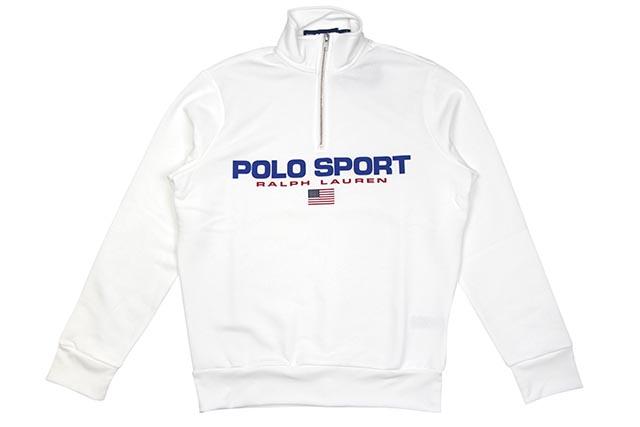 POLO SPORT FLEECE SWEATSHIRT (710750456006:WHITE)ポロラルフローレン/ポロスポーツ/ハーフジップスウェット/ホワイト