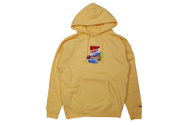 CLASSIC MATERIAL NY SUNFLOWER SEEDS & QUARTER WATERS HOODY (PEACH)クラシックマテリアルニューヨーク/プルオーバーフーディー/ピーチ