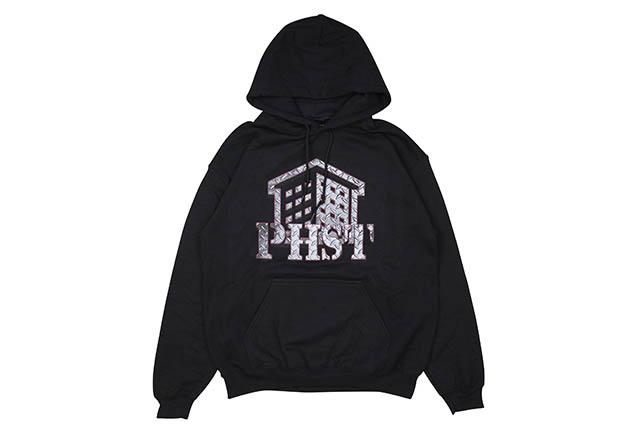 PHST METAL LOGO HOODIE (BLACK)パブリックハウジングスケートチーム/プルオーバーフーディー/ブラック