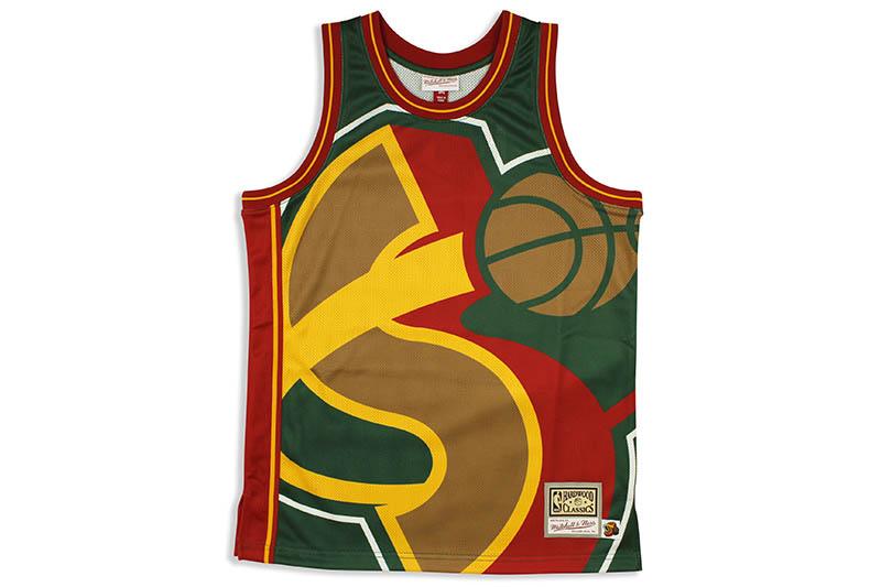 MITCHELL&NESS BIG FACE JERSEY SEATTLE SUPER SONICSミッチェル&ネス/バスケットボールジャージ/シアトルスーパーソニックス/グリーン