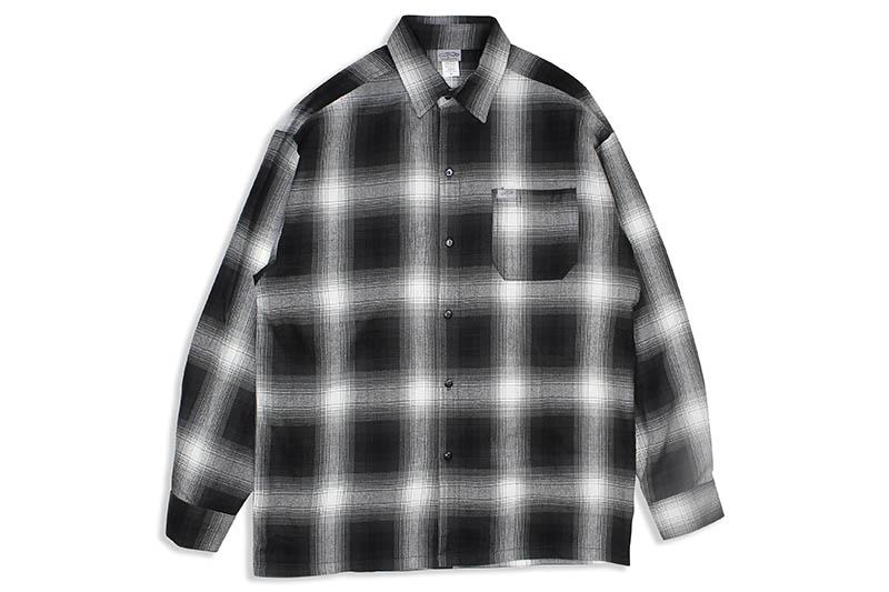 CALTOP PLAID FLANNEL LONG ストア SLEEVE SHIRT IVORY ブラック×アイボリー キャルトップ ●日本正規品● #2000:BLACK ロングスリーブシャツ