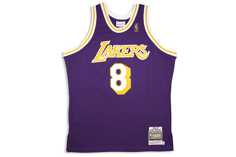MITCHELL & NESS AUTHENTIC JERSEY (LOS ANGELES LAKERS/ROAD/1996-97/KOBE BRYANT)ミッチェル&ネス/スローバックジャージー/パープル