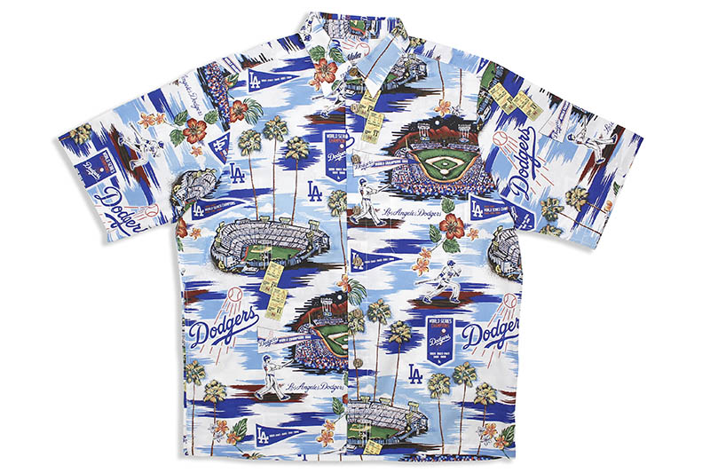 REYN SPOONER LOS ANGELES DODGERS SCENIC SHIRT (121/2809)レインスプーナー/アロハシャツ
