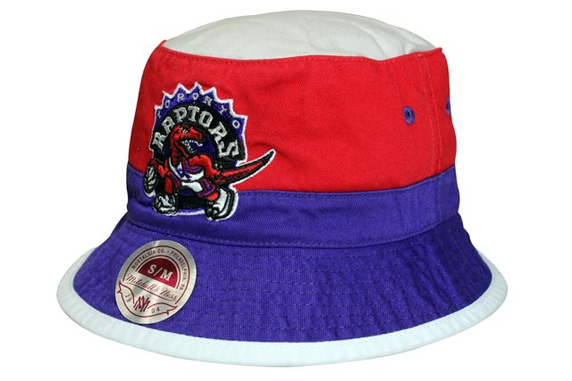 MITCHELL NESS BUCKET HAT (Color Block Bucket NBA Toronto Raptors  Grey x  Red×Purple) Mitchell   ness and bucket hat and gray   red x purple 143fedad771