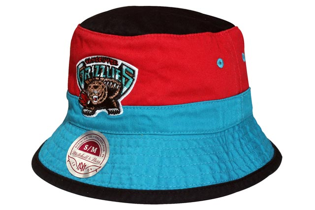 MITCHELL NESS BUCKET HAT (Color Block Bucket NBA Vancouver Grizzlies  Black  x Red×Turquoise) Mitchell   ness and bucket Hat   Black x red   turquoise c5684c66d4b