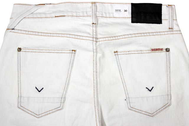 Hudson Jeans DENIM PANTS (M755DEY/Sartor Slouchy Skinny: White)ハドソン ジーンズ/デニム ジーンズ