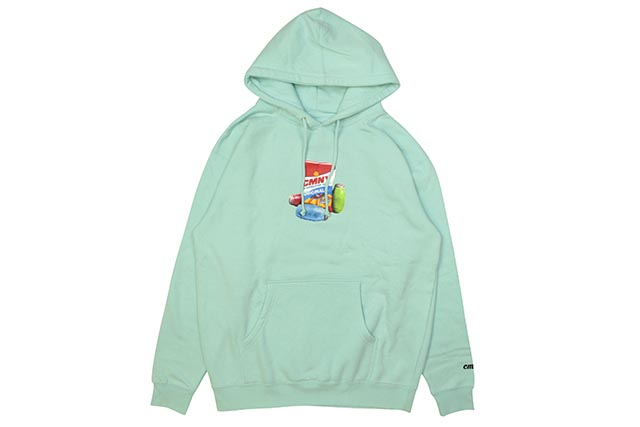 CLASSIC MATERIAL NY SUNFLOWER SEEDS & QUARTER WATERS HOODY (TURQUOISE)クラシックマテリアルニューヨーク/フーディー/ターコイズ