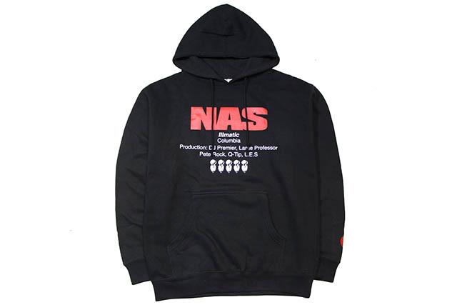 CLASSIC MATERIAL NY NAS 5 MICS HOODY(BLACK)クラシックマテリアルニューヨーク/フーディー/ブラック