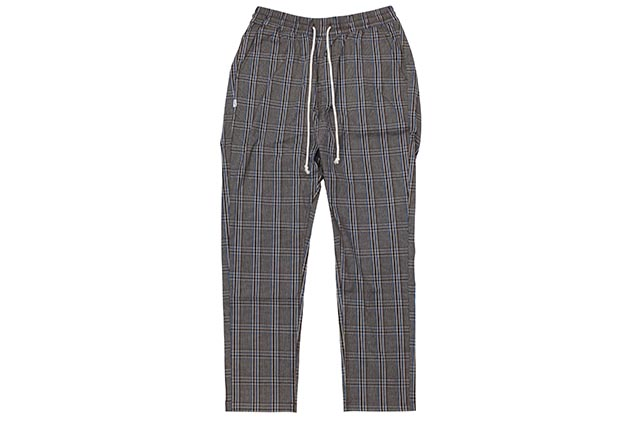FAIRPLAY JOSIAH PLAID WOVEN RUNNER RELAXED CLASSIC PANTS(BROWN)フェアプレイ/リラックスドクラシックパンツ/ブラウン