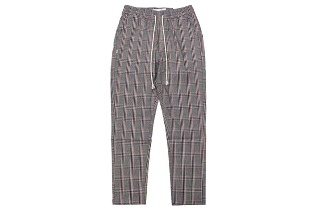 FAIRPLAY JOSIAH PLAID WOVEN RUNNER RELAXED CLASSIC PANTS(GREY)フェアプレイ/リラックスドクラシックパンツ/グレイ