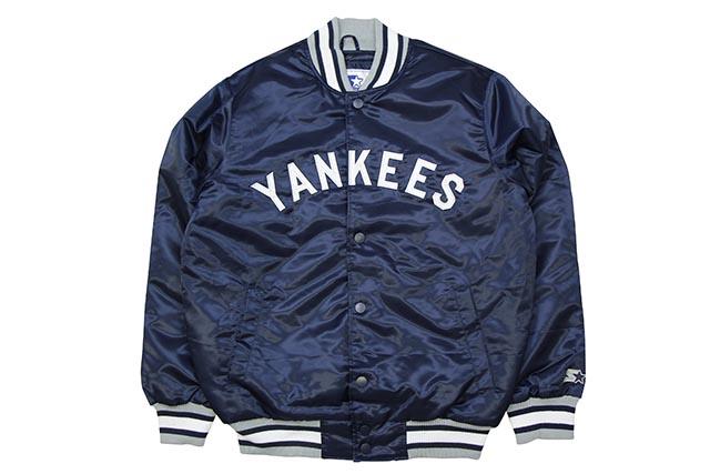 STARTER NEW YORK YANKEES WARM UP JACKET (LS87E680-NYY)スターター/サテンジャケット/スタジアムジャケット/ニューヨークヤンキース