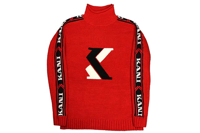 KARL KANI O.G.TIME MOCK NECK SWEATER(KK1703:RED)カールカナイ/セーター/レッド