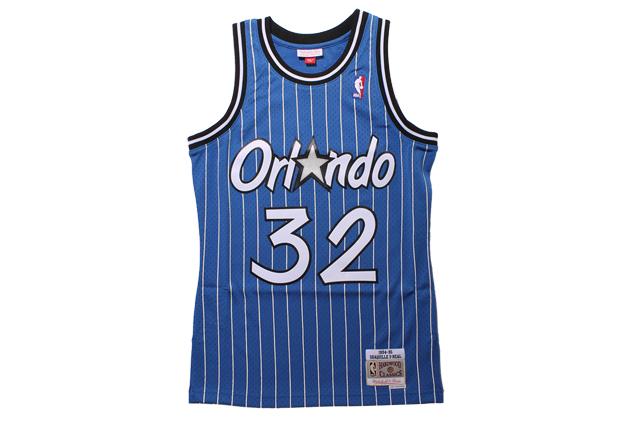 MITCHELL&NESS SHAQUILLE O'NEAL SWINGMAN JERSEY(ORLANDO MAGIC/1994-95/BLUE×STRIPE)ミッチェル&ネス/バスケットボールジャージ/オーランドマジック/ブルー