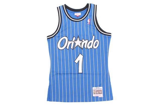 MITCHELL&NESS ANFERNEE HARDAWAY SWINGMAN JERSEY(ORLANDO MAGIC/1994-95/BLUE×STRIPE)ミッチェル&ネス/バスケットボールジャージ/オーランドマジック/ブルー