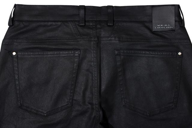 VERSACE COLLECTION 6-POCKET STRETCH OILED PANTS (V600137/VE7241: Black)ヴェルサーチジーンズ/ブラックデニムパンツ/黒