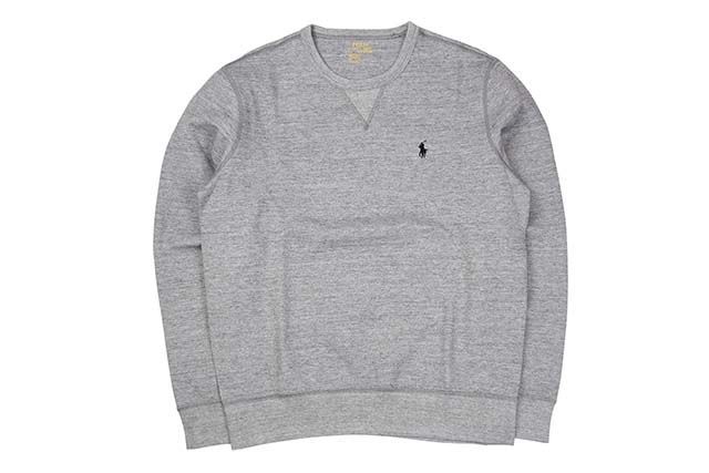 POLO RALPH LAUREN SIGNATURE PONY DOUBLE-KNIT CREW SWEAT(710675313012/GREY HEATHER)ポロラルフローレン/クルーネックスウェット/グレー