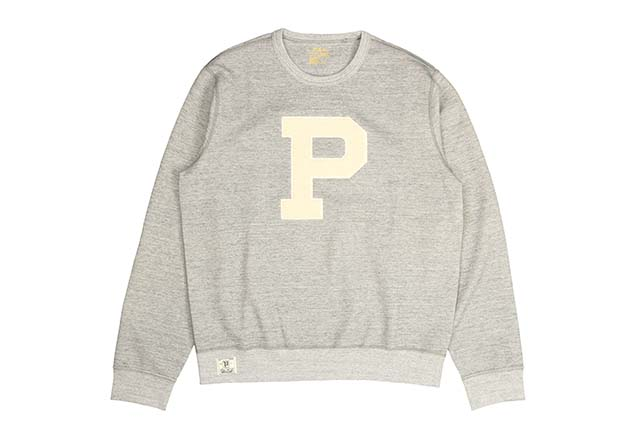 POLO RALPH LAUREN PATCHED DOUBLE-KNIT CREW SWEAT(710691256001/GREY HEATHER)ポロラルフローレン/クルーネックスウェット/グレー
