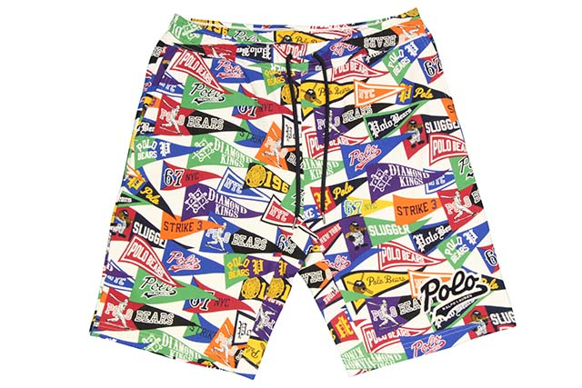 POLO RALPH LAUREN PENNANT SWEAT SHORTS(710695234001:ART DECO PENNANT)ポロラルフローレン/ショーツ/マルチカラー