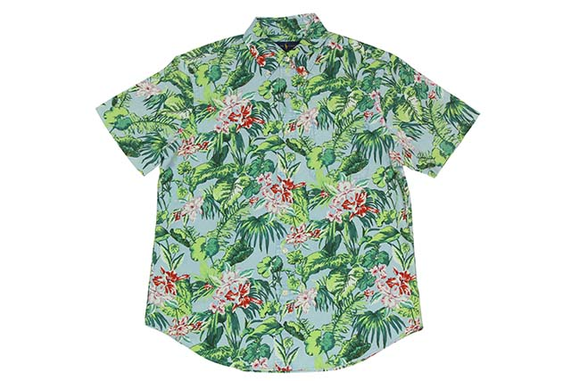 POLO RALPH LAUREN CLASSIC-FIT HAWAIIAN S/S SHIRTS(710692562002:BLUE)ポロラルフローレン/半袖シャツ/ブルー