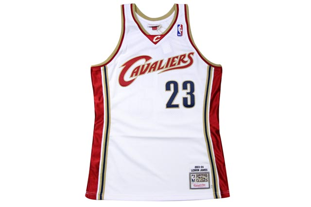 ●MITCHELL&NESS AUTHENTIC THROWBACK JERSEY (NBA/CLEVELAND CAVALIERS/03-04/LEBRON JAMES: WHITE)ミッチェル&ネス/スローバックバスケットゲームジャージ/白