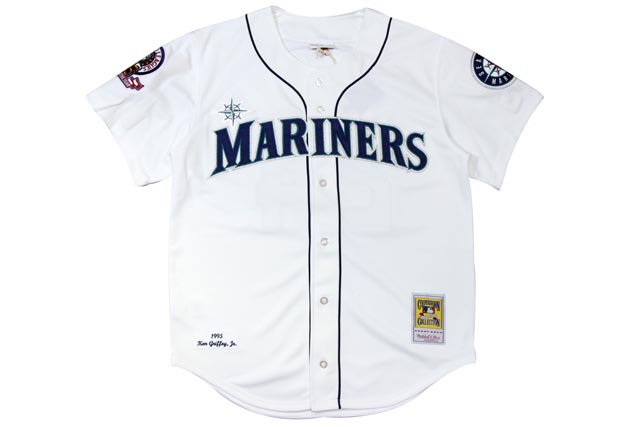 ●MITCHELL&NESS KEN GRIFFEY JR. 1995 MLB AUTHENTIC JERSEY (SEATTLE MARINERS: WHITE)ミッチェル&ネス/スローバックベースボールジャージ/白