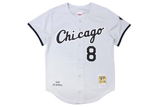 ●MITCHELL&NESS BO JACKSON 1993 MLB AUTHENTIC JERSEY (CHICAGO WHITESOX: GREY)ミッチェル&ネス/スローバックベースボールジャージ/グレー