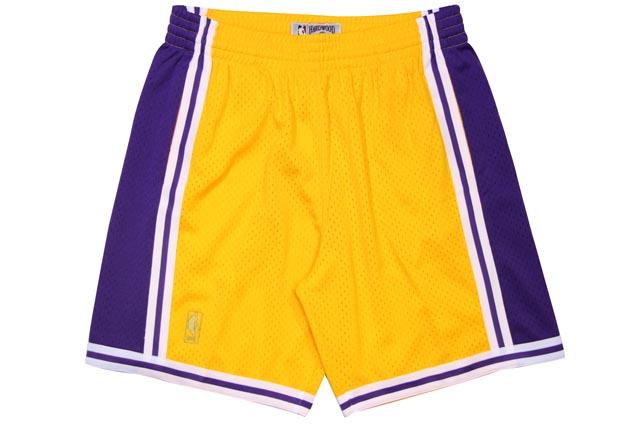 MITCHELL&NESS SWINGMAN MESH SHORTS(LOS ANGELES LAKERS/1996-1997/YELLOW×PURPLE)ミッチェル&ネス/バスケットボールショーツ/イエロー×パープル