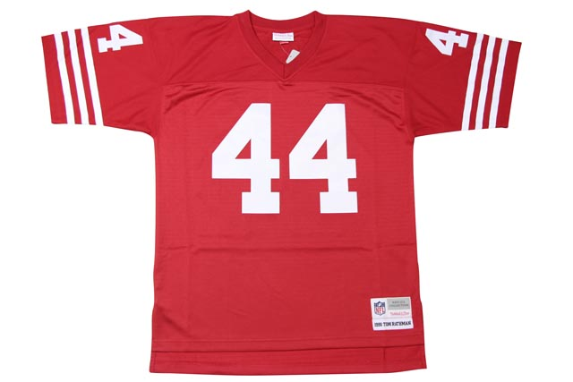 MITCHELL&NESS SAN FRANCISCO 49ERS REPLICA JERSEY (1990-TOM RATHMAN: SCARLET)ミッチェル&ネス/フットボールジャージ/スローバックジャージ/赤