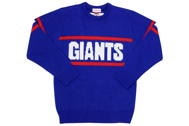 MITCHELL&NESS 1984 Authentic Sweater (New York Giants: Blue)ミッチェル&ネス/クルーネックスセーター/青