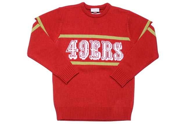 MITCHELL&NESS 1986 Authentic Sweater (San Francisco 49ers: Red)ミッチェル&ネス/クルーネックスセーター/赤
