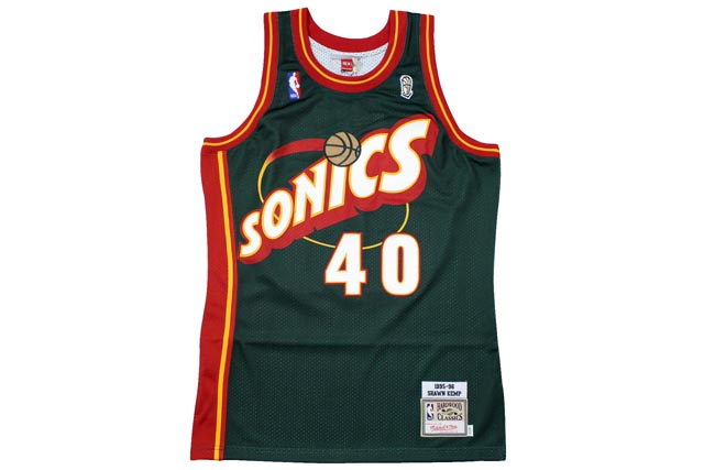 MITCHELL&NESS AUTHENTIC THROWBACK JERSEY (1995-96 Seattle SuperSonics/Shawn Kemp : GREEN)ミッチェル&ネス/スローバックジャージー/緑