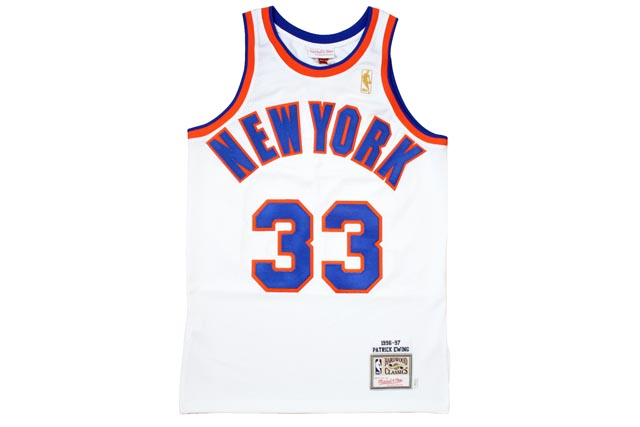 MITCHELL&NESS AUTHENTIC THROWBACK JERSEY (1996-97 New York Knicks/Patrick Ewing : WHITE)ミッチェル&ネス/スローバックジャージー/白
