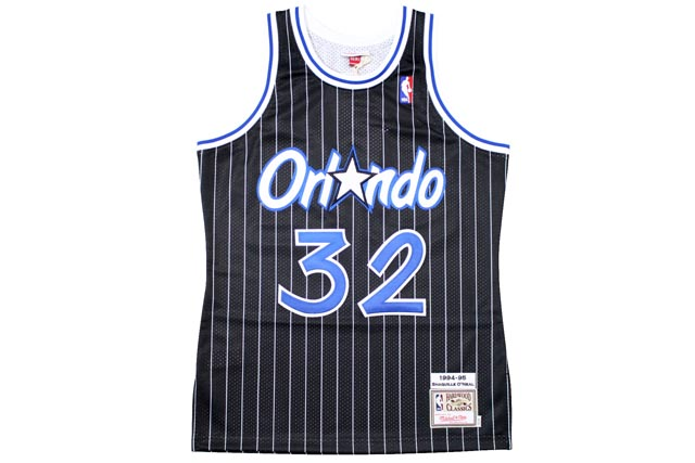 MITCHELL&NESS AUTHENTIC THROWBACK JERSEY (1994-95 Orlando Magic/Shaquille O'Neal : BLACK)ミッチェル&ネス/スローバックジャージー/黒