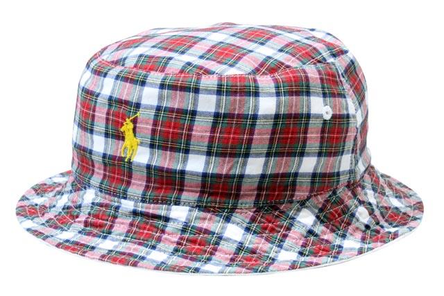 5b1a7ea2b79c7 Polo Ralph Lauren   reversible hat and white POLO RALPH LAUREN Reversible  Plaid Bucket Hat (710543161001  Navy White Newport)