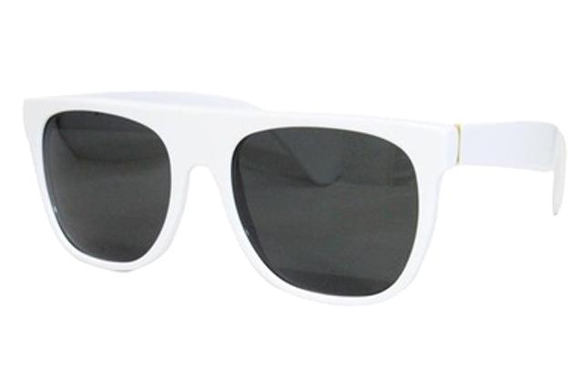SUPER SUNGLASS (FLAT TOP/035/WHITE/WHIT)スーパー/サングラス