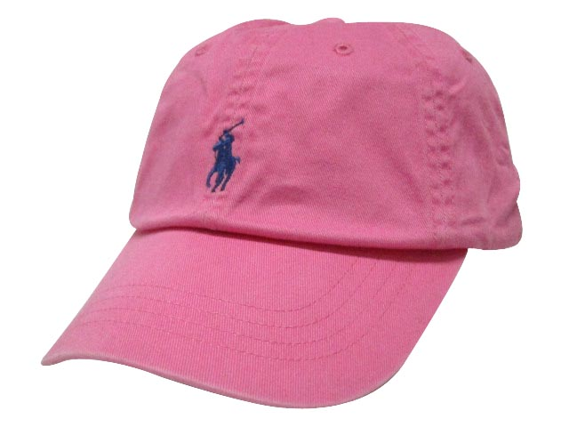 POLO RALPH LAUREN Cotton Baseball Cap (DNS 1005  MAUI PINK) Polo Ralph  Lauren and a just Cap   Pink a52a4708f60