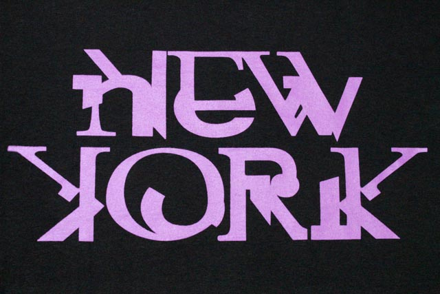 Vandal-A T-Shirts(New York x Purple Tape:Black)vandarue/T-衬衫/黑