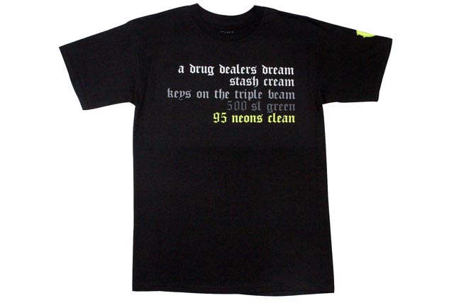 Vandal-A T-Shirts(A DRUG DEALERS DREAM:Black)vandarue/T-衬衫/黑