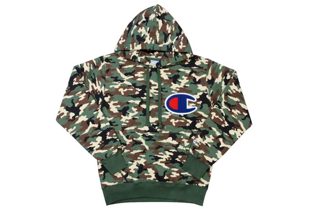 Champion BIG C LOGO p/o HOODIE (WOODLAND CAMO) champion / pullover Parker / camouflage